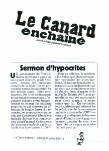 article canard enchainé 14 10 09