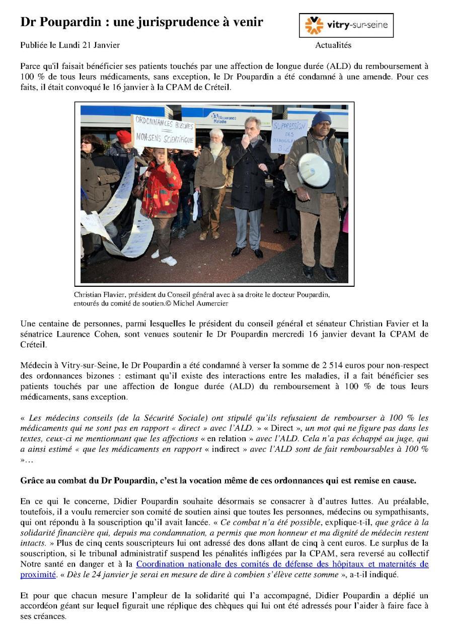 Dr Poupardin une jurisprudence à venir Vitry actualités 21…